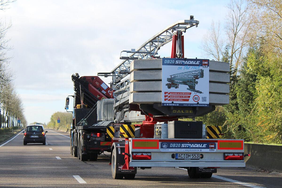 DB20 Stradale supermobiele snelmontage bouwkraan De Ceuster & Co 12