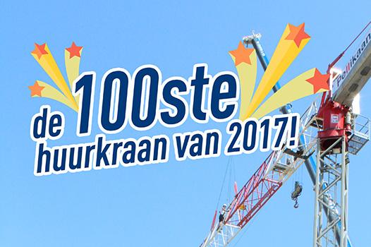 De Ceuster & Co plaatst 100ste huurkraan van 2017
