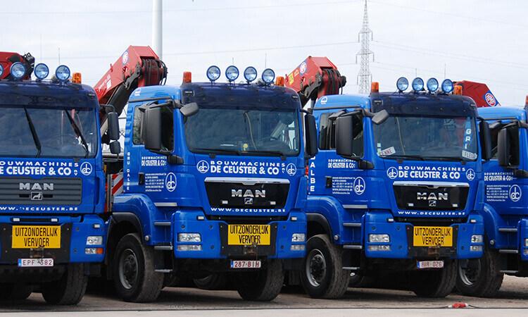 Transport - De Ceuster vrachtwagens - bouwkraanvervoer